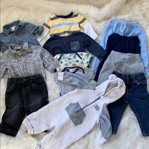 12 Piece Lot of 6-9 Month Baby Boy Clothes